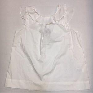 J. CREW womens ruffle top in cotton poplin SZ 8